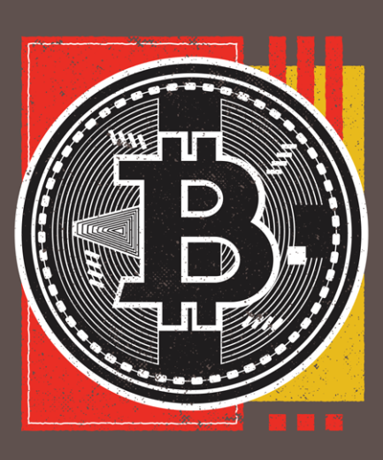 Bitcoin Abstract Design DTF Transfer Print in India