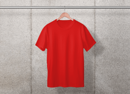 Premium quality branded red color crew neck t-shirt for Dropshipping in India