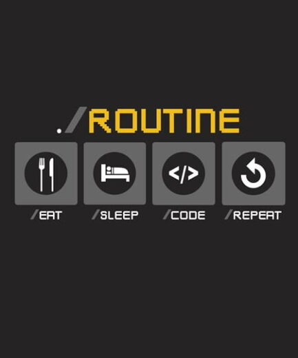 Coding Routine DTF Design Ready to Print on T-Shirt in India